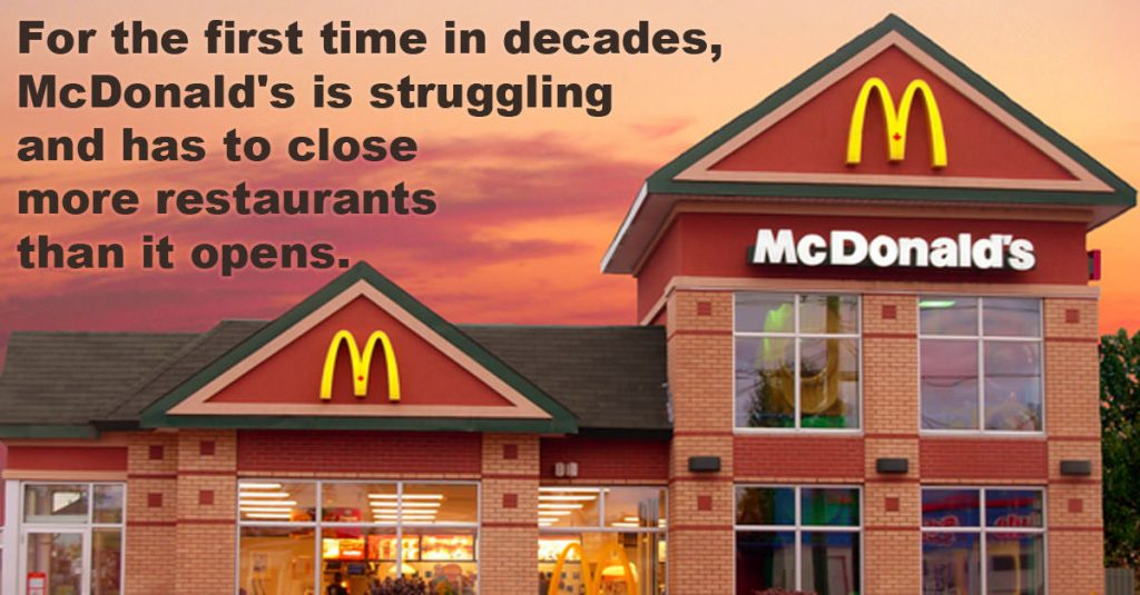 Mcdonalds closing down restaurants